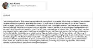 Evaluar la validez de los proyectos basados en juegos